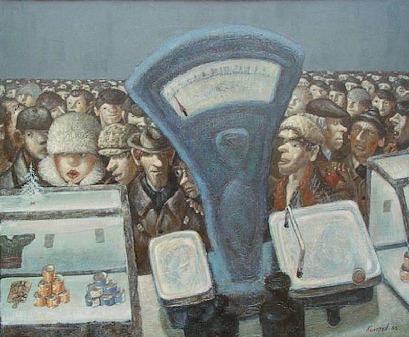 Художник-нонконформист Василий Колотев и его антисоветская живопись (12фото)