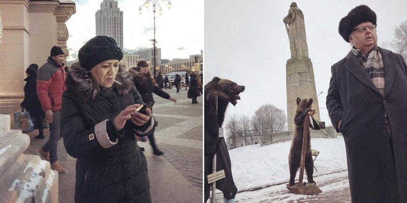 Фотограф документирует суровые улицы России с помощью iPhone (24фото)
