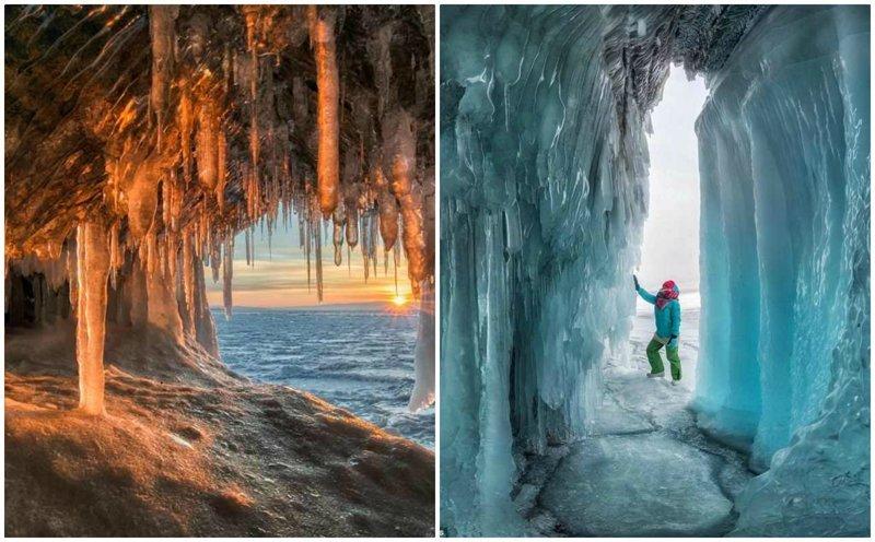 Фантастические ледяные пещеры Байкала в объективе Андрея Грачева (10фото)