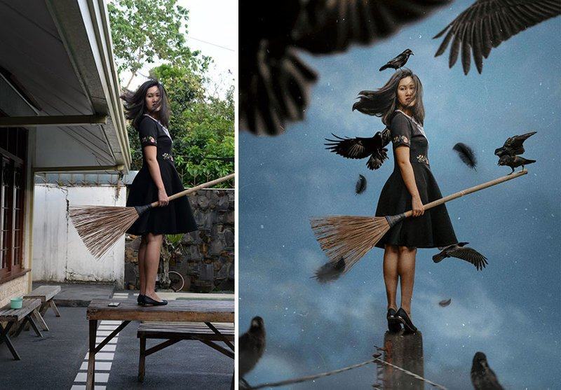 20 фотографий с заднего дворика, ставших сказочными мирами в руках художницы (20фото)