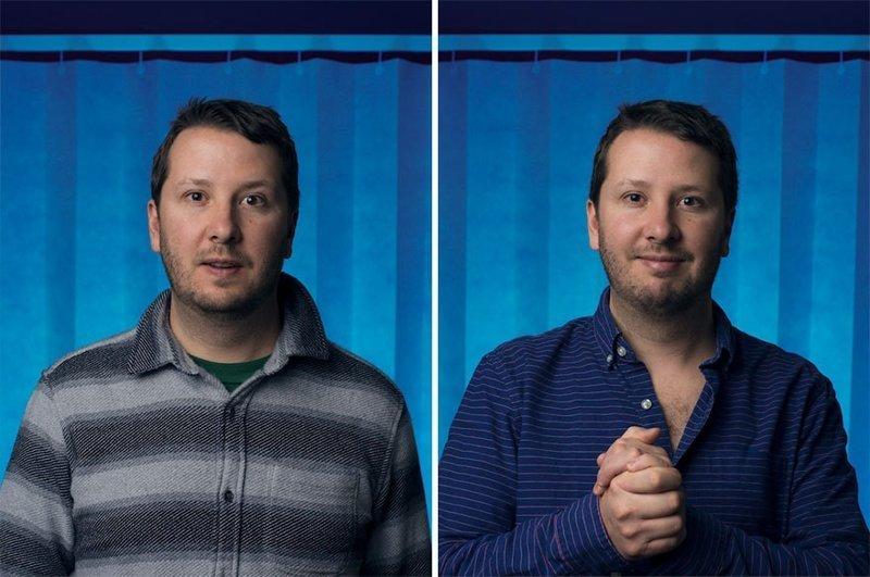Фотограф запечатлел эмоции мужчин до и после того как они стали новоиспечёнными отцами (6фото)
