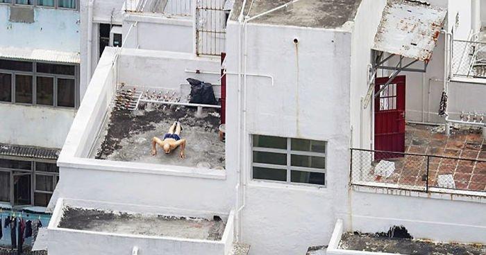 Фотопроект: жизнь на крышах Гонконга (13фото)