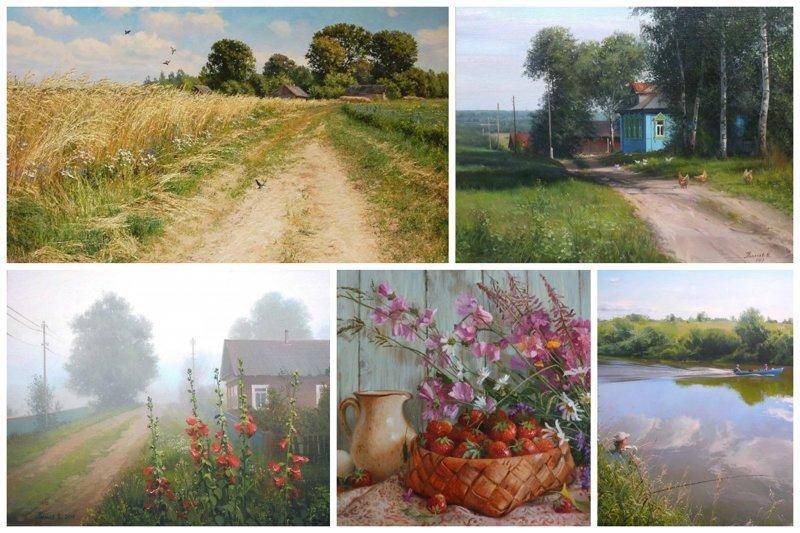 Деревня в картинах современных художников (33фото)