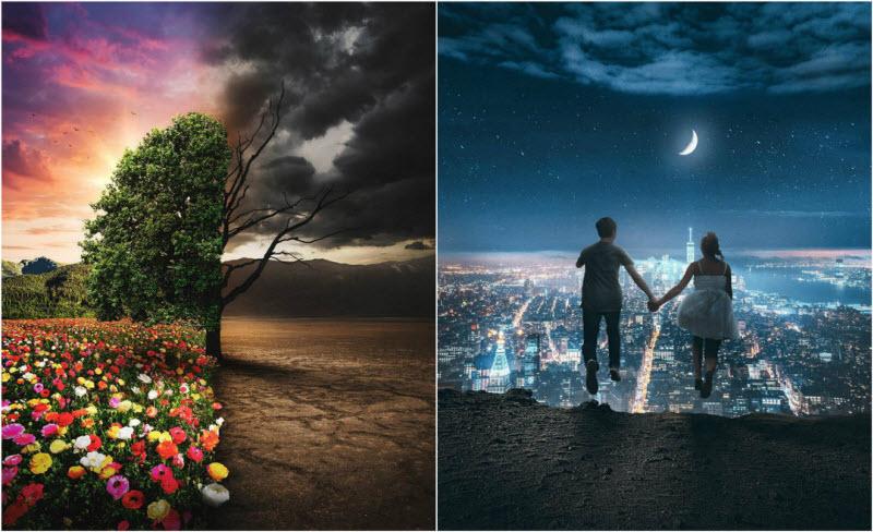 Сюрреалистические миры иранского художника (28 фото)