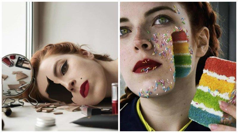 Сюрреалистичные автопортреты от Александры Чертуловой (36фото)