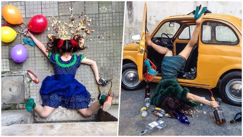 Падай, но поднимайся: философский фотопроект итальянского фотографа о жертвах «падения» (26фото)