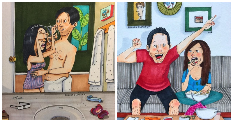 За закрытыми дверями: 50 честных и смешных иллюстраций о совместной жизни влюбленных (51фото)