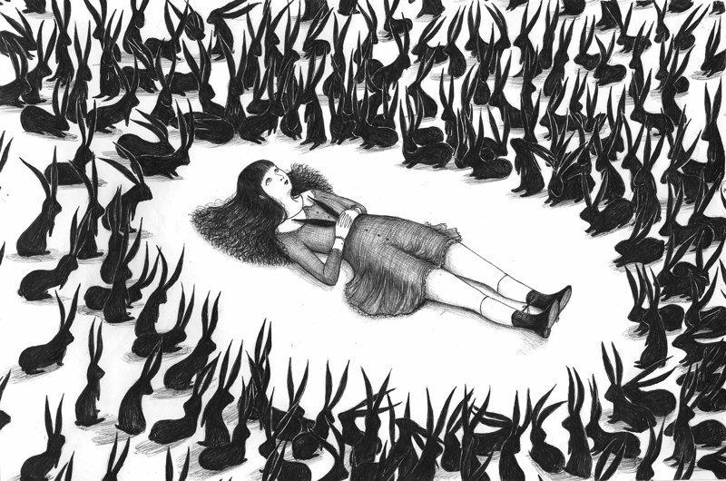 Итальянский художник в своих иллюстрациях смешивает сюрреализм и ужас (34фото)