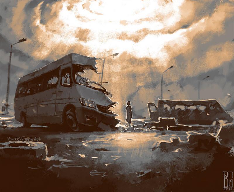 Мрачные иллюстрации Бориса Гроха (26 фото)