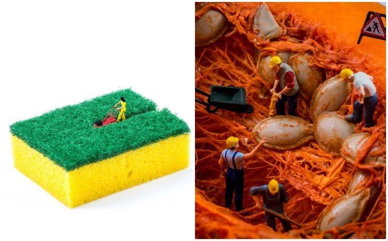 Новые миниатюрные миры из подручных предметов от Питера Ксаквари (22фото)