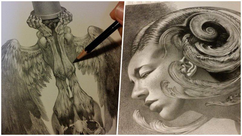 Шикарные фэнтези-персонажи, нарисованные простым карандашом (21фото)