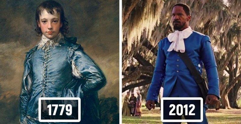 17 знаменитых сцен из фильмов, которые в точности повторяют известные произведения живописи (35фото)