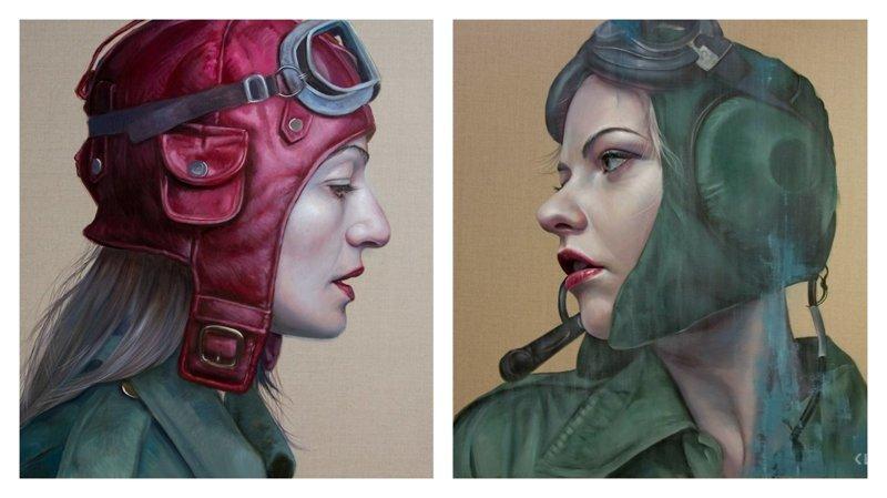 Женщины в шлемах от Катрин Лонгхерст (8фото)
