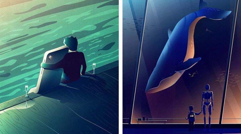 Немецкий графический дизайнер создаёт удивительно остроумные концептуальные векторные иллюстрации (23фото)