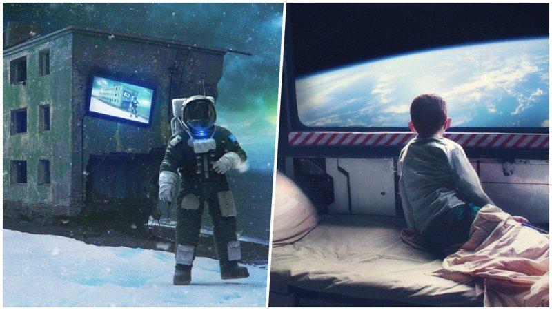 Российский художник делает очень крутые арты на космическую тематику (31фото)