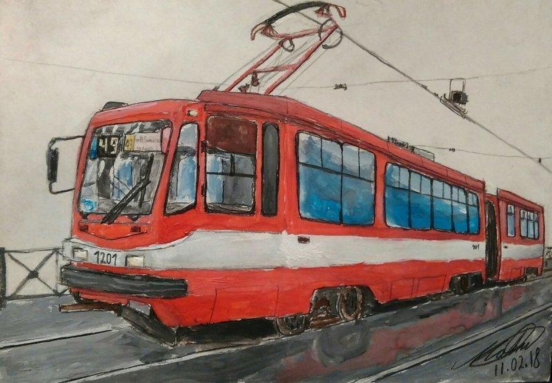 Общественный транспорт как предмет искусства: трамвай (25фото)