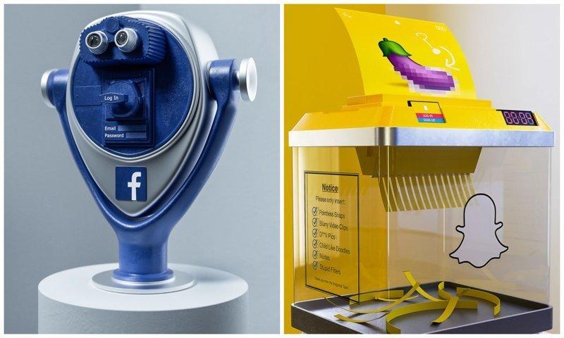 Художник создаёт метафорические скульптуры известных социальных медиа (13фото)