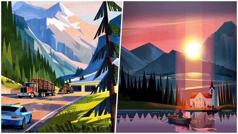 25 уютных иллюстраций от канадского художника (26фото)
