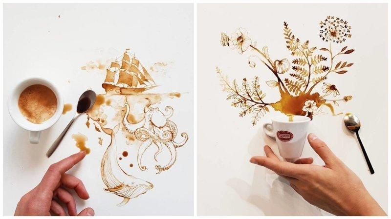 Кофейные рисунки от Джулии Бернарделли (25фото)