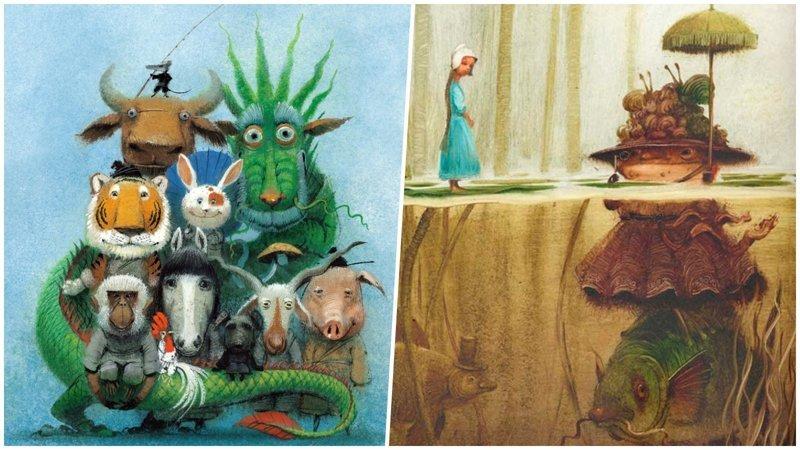 Игорь Олейников: российский гений книжной иллюстрации (31фото)