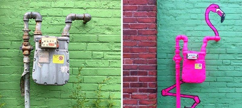 Уличный художник придумывает интересную историю даже самым скучным вещам (41фото)