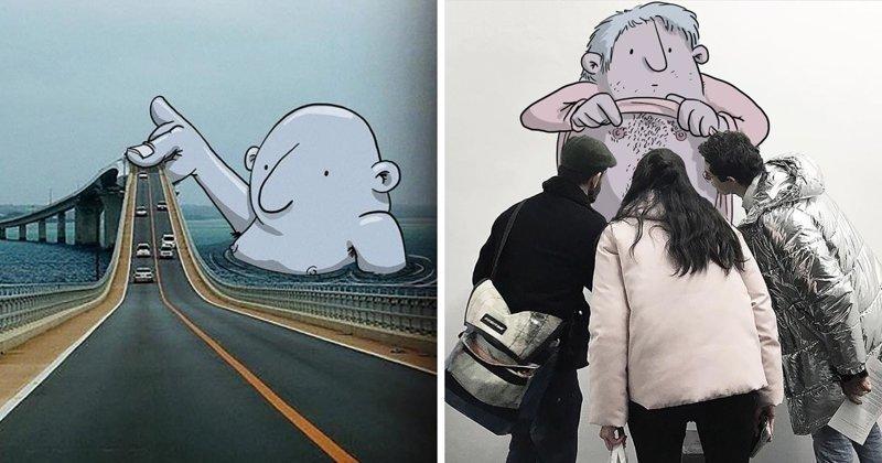 Бразильский художник вторгается в реальность своими фантазиями (51фото)