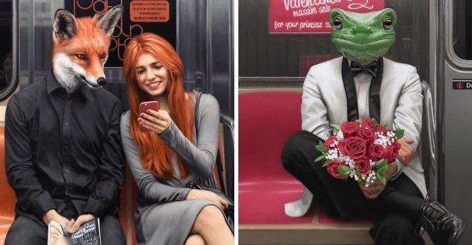 Эти сюрреалистические портреты показывают, каким на самом деле «диким» является метро в Нью-Йорке (39фото)
