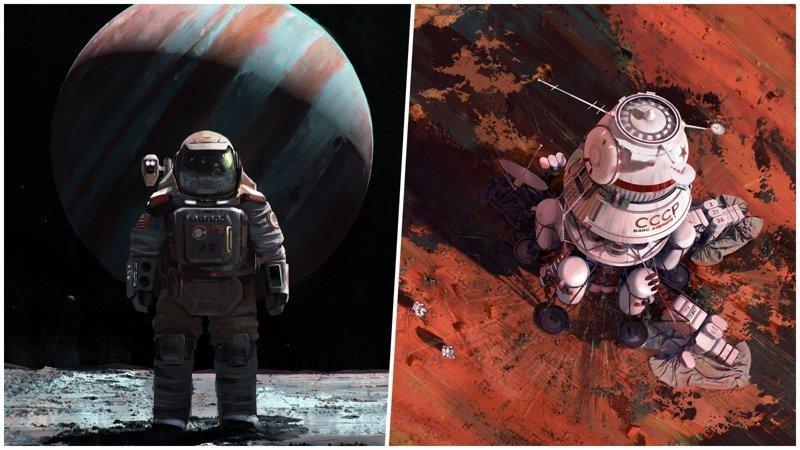 Альтернативная история освоения космоса от польского художника (26фото)