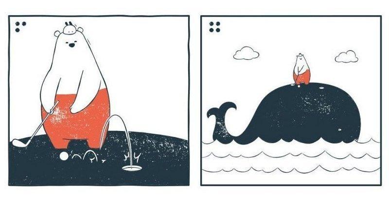 19 забавных комиксов с чёрным юмором и неожиданными концовками (19фото)