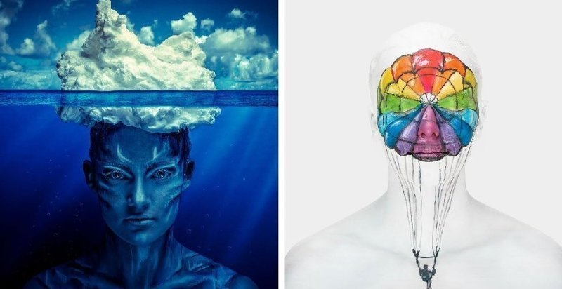 Британская художница создала серию работ, которые показывают, что творится у людей в голове (16фото)