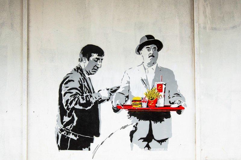 Самые красивые граффити на улицах Москвы (82фото)