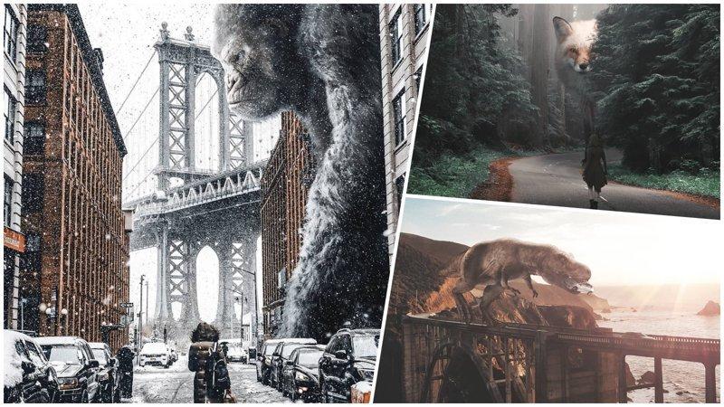 Земля, захваченная гигантскими животными (22фото)