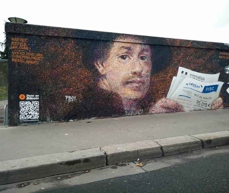 Уличный художник заработал 1000 долларов, добавив к своим граффити одну хитрую деталь (6фото)