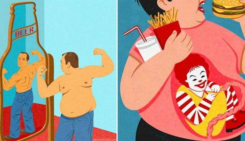 16 сатирических иллюстраций, показывающих изнанку современного общества (17фото)