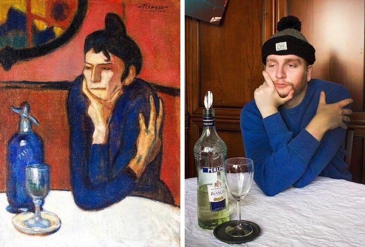 «Сфоткай типа Рембрандт» — люди пародируют известные картины и у них неплохо получается (21 фото)