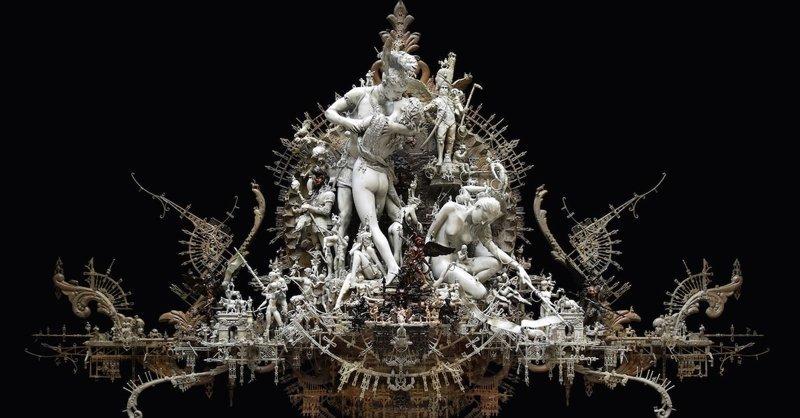Художник творит готические скульптуры из повседневных предметов (11фото)