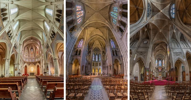 Вертикальные панорамы парижских соборов в объективе Ричарда Силвера (19фото)
