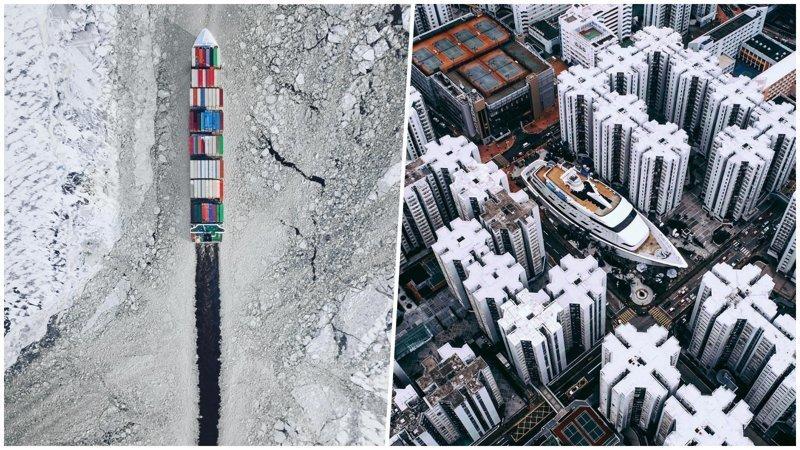 20 шикарных фотографий с дронов, от которых захватывает дух (21фото)