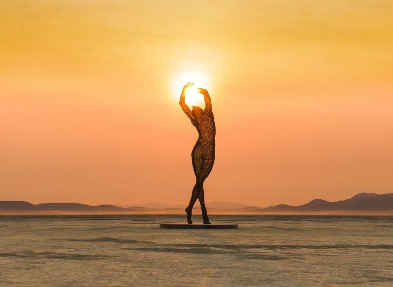 От заката до рассвета: потрясающие снимки от фотографа Burning Man (12фото)