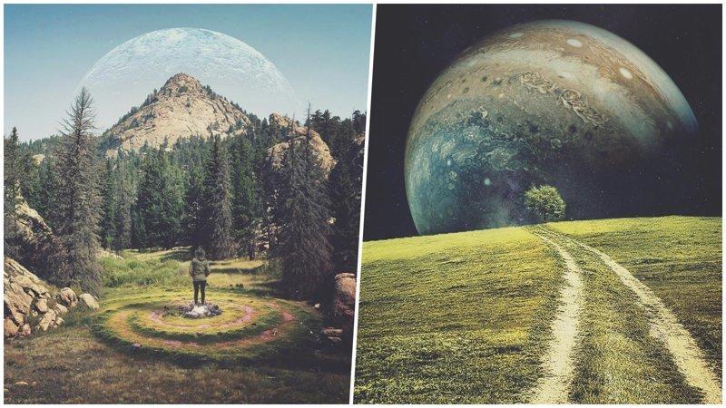 Пейзажи из другого измерения: если бы Земля и космос были немного другими… (26фото)