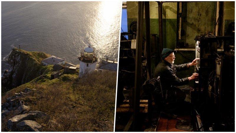 Документальный фотопроект о жизни и быте одинокого смотрителя маяка в Охотском море (21фото)