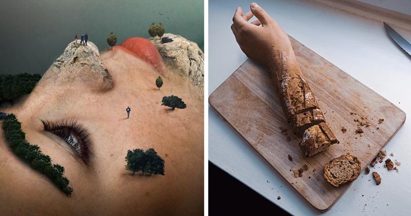 Сюрреалистические фотоманипуляции, стирающие грань между реальностью и вымыслом (23фото)