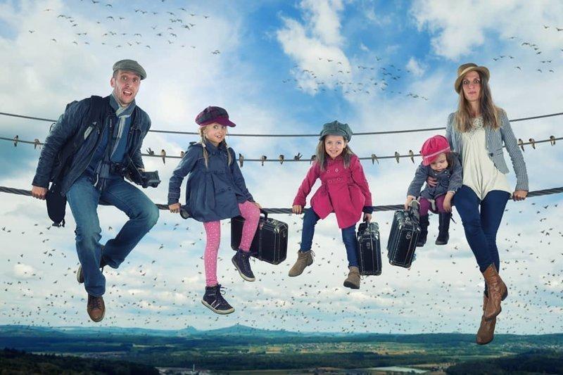 Креативный папа создаёт с помощью Фотошоп удивительно приключенческие снимки со своими детьми (32фото)
