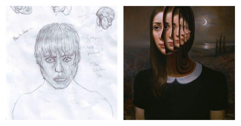 Эволюция рисунка: художник продемонстрировал свои работы - от корявых зарисовок до сюрреализма (25фото)