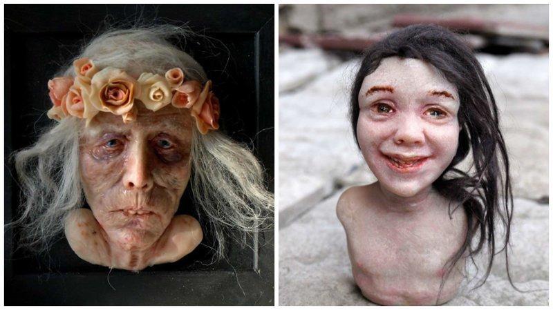 Жуткие гиперреалистичные скульптуры от Полины Вербицкой (29фото)