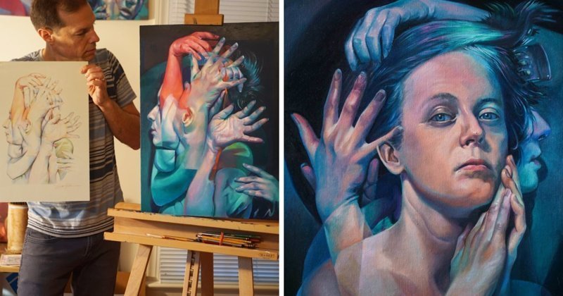 Художник показывает непостоянство человеческой личности (11фото)