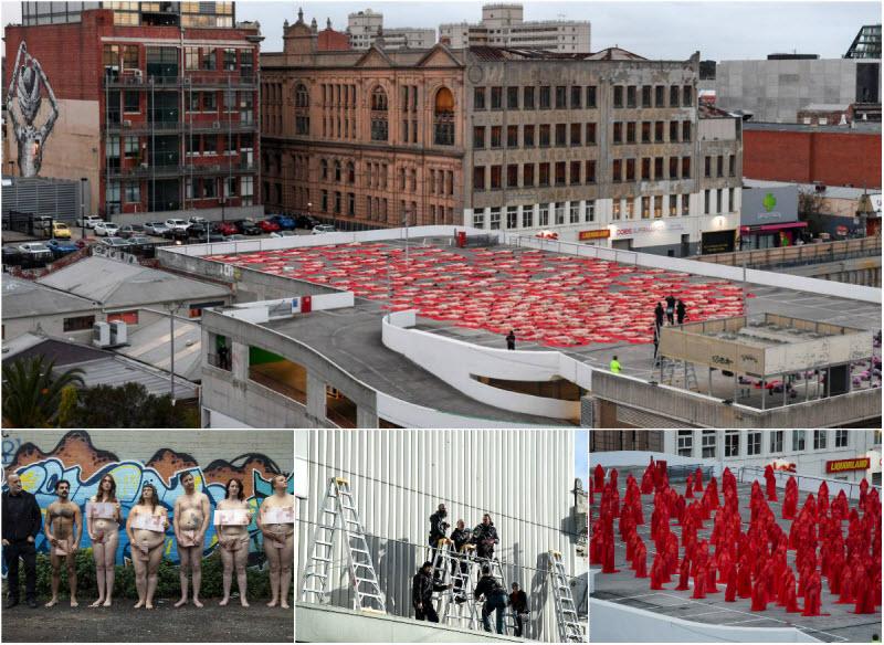 500 австралийцев разделись для инсталляции Спенсера Туника (27 фото)