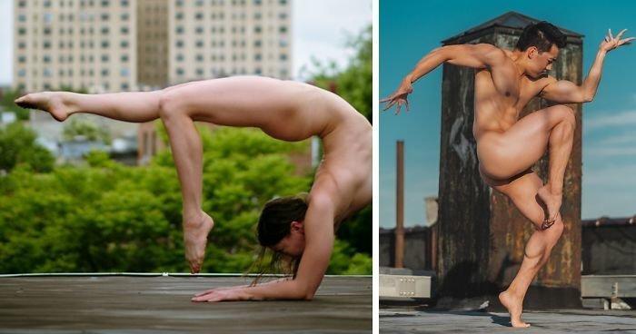 Фотопроект Bare Sky Dance: обнаженный балет на крышах Нью-Йорка (37фото)