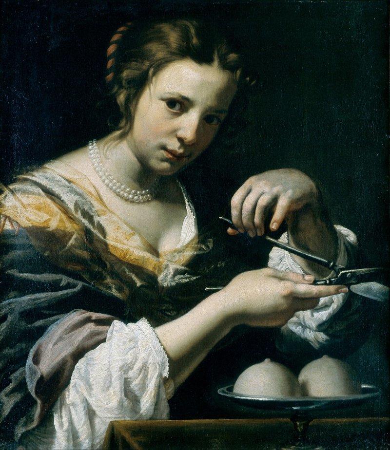 Католическая иконопись: отрезанная женская грудь (13фото)