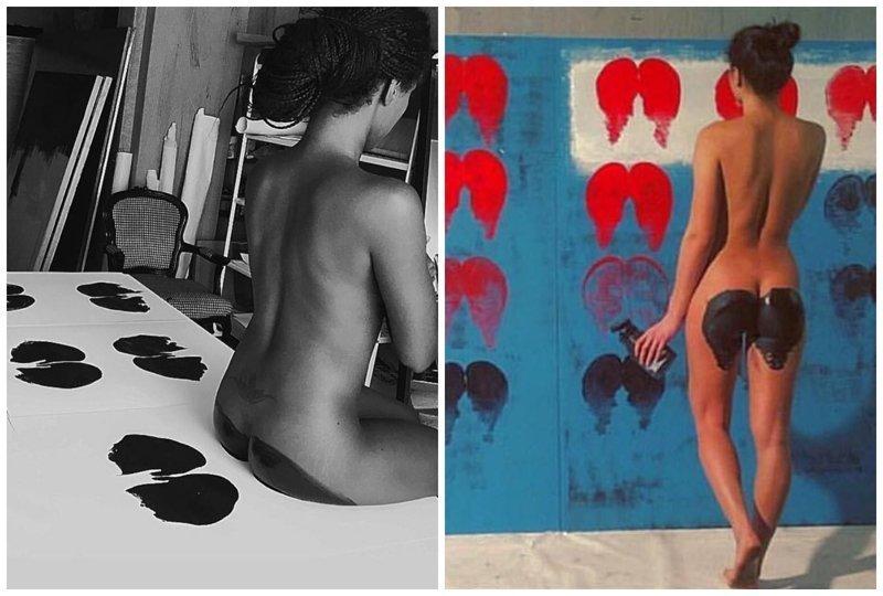 Голопопое искусство: художник использует женское тело для создания картин (13фото)